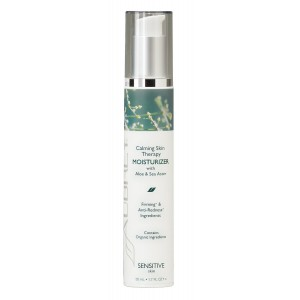 Aubrey Organics Calming Skin Therapy Moisturizer * NATURAL INGREDIENTS CLINICALLY PROVEN TO REDUCE REDNESS and SENSITIVITY * with Aloe Vera and Sea Aster - 1.7oz