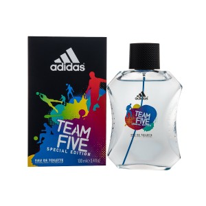 adidas Team Five Special Edition Eau De Toilette Spray for Men, 3.4 Ounce