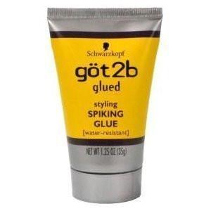 Schwarzkopf GOT2B GLUED SPIKING GLUE 1.25 oz, TRAVEL SIZE (Pack of 6)