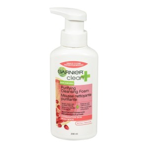 Garnier Clean+ Purifying Foam Cleanser For Combination Skin, 6.8 Fluid Ounces