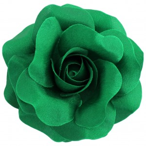 Sara Monica St Patrick's Day Hair Flower and Pin: Rose: Made in the USA (Green)