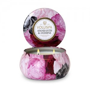 Thinkpichaidai Voluspa Maison Jardin Collection, 2 Wick Metallo Candle, Amaranth and Jasmine, 11 oz