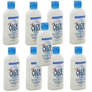 Fruit Of The Earth Aloe Vera Lotion, 4 oz. Travel Size (Pack of 9)