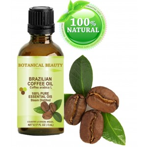 "Botanical Beauty COFFEE ESSENTIAL OIL Brazilian. 100% Pure/ Undiluted. 0.17Fl.oz.- 5 ml. "" Uplifting, revitalizing"