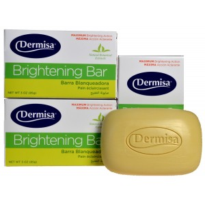 3 AMAZING BRIGHTENS CLEANS SOAP DERMISA GET RID IMPERFECTIONS NATURALLY