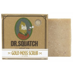 Dr. Squatch - Gold Moss - Mens Soap Bar with Light Scrub and Smooth Scent, 5 Oz.
