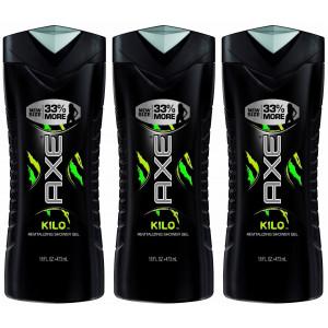 Axe Shower Gel, Kilo, 16 Fluid Ounce (Pack of 3)