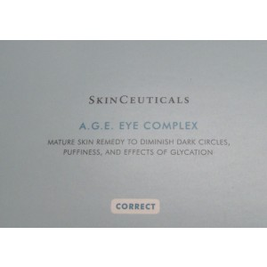SkinCeuticals A.G.E. Eye Complex - 1 Box Of 6 Squeeze Tubes = (.75 oz./ 22.2 ml.) 3/4 Oz. A corrective eye cream that reduces the appearance of dark circles, puffiness, and crow's feet.