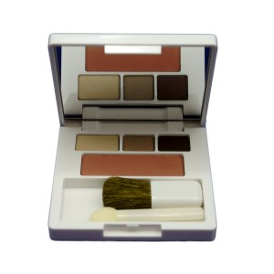 Clinique All About Shadow Trio (03 Morning Java (Single Shade), 1C Foxier, 06 Neutral Territory (Single Shade)) + Soft-Pressed Powder Blusher (06 Fig) Colour Compact