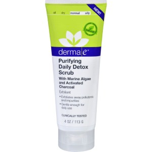 derma e Purifying Daily Detox Scrub With Activated Charcoal 4 oz