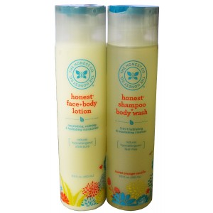 The Honest Company Shampoo and Body Wash + Face and Body Lotion-8.5 oz each