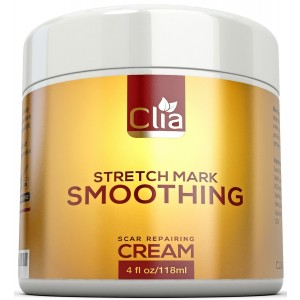 CLIA Beauty Stretch Mark Cream 4 Ounce for Reduction and Prevention of New and Old Stretch Marks and Scars | B