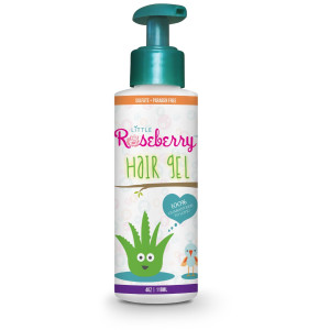 Little Roseberry Hair Gel for Kids   Made with Organic Aloe Vera and Witch Hazel for a Light Hold   Natural Vitamin