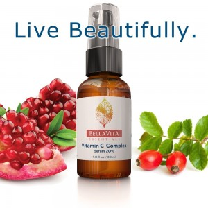 BellaVita Essentials Vitamin C Complex Serum with Hyaluronic Acid, Rose Hips, Pomegranate and Vitamins A, B6, C, D, E, K