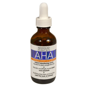 Advanced Clinicals AHA Alpha Hydroxy Acid Instant Resurfacing and Hydrating Serum 1.75 Fl Oz.