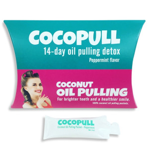 Cocopull - Oil Pulling Coconut Oil - Coconut Oil Pulling Teeth Whitening - 14 Packets with Coconut Oil for Teeth, Helps Remove Coffee Stains on Teeth, Gets Rid of Bad Breath