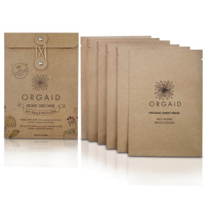 ORGAID Antiaging and Moisturizing Organic Sheet Mask | Made in USA (6 sheets)