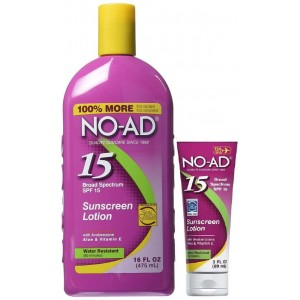 No-Ad Sunscreen Lotion SPF 15, 16 Ounce Bottle + Bonus 3 Ounce Tube