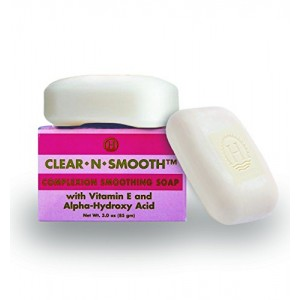 Clear N Smooth Skin Lightening Enhancement Soap: Exfoliates Skin, Performance Booster for Whitening Creams, 2 Pak