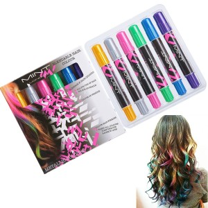 SySrion Hair Chalk - Metallic Glitter Temporary Hair Color - Edge Chalkers - No Mess - Built in Sealant -