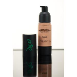 EVXO Medium Coverage Liquid Mineral Foundation Makeup - 90% Organic Ingredients, Gluten-Free, Vegan, Cr