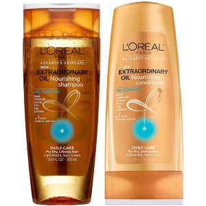 L'Oreal Paris Advanced Haircare - Extraordinary Oil - Nourishing Shampoo and Conditioner Set - Net Wt. 12.6 FL OZ (375 mL) Each - One Set
