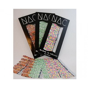 Nail Art Club Inc. Holiday Haut - 3 Pack (42 Total Nail Art Wraps) - Includes Conversation Hearts, Shamrocks, and Jel