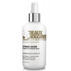Beaux Noggins REVOLUTIONARY LEAVE-IN CONDITIONER Creates Shine w/o Weight or Oily Look - Strengthens, Smooths, Detangles - Great For Flat Irons - Safe for Color, Straightened and Chemically Treated Hair