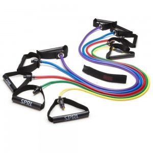 Featured Brands 35 SPRI Xertube Resistance Band Exercise Cords with Door Attachment (Sold Individually)