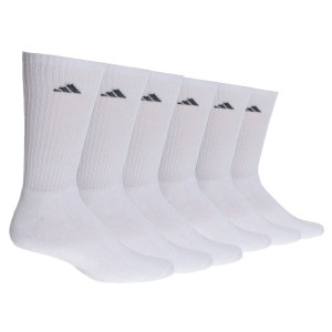 adidas Men's Athletic Crew Socks, Pack of 6