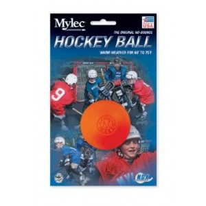 Mylec Warm Weather Hockey Balls, (Pack of 6) ORANGE