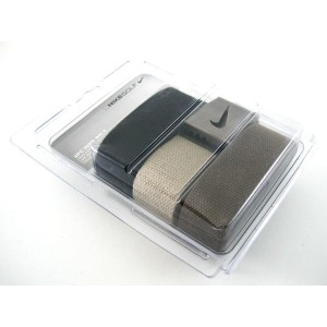 Nike One Size Fits All Web Belts : Black, Olive and Khaki 3 Pack