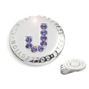 Elixir Golf Crystal Initial Golf Ball Marker with Hat Clip