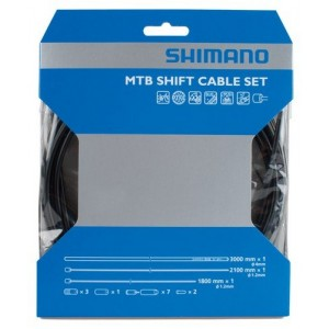 Shimano 2014 MTB PTFE Bicycle Shift Cable Set (Black)