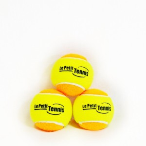 Le Petit Tennis - Pk3 Orange-Yellow (Stage 2) Tennis Balls for Kids - (For 60ft Court)