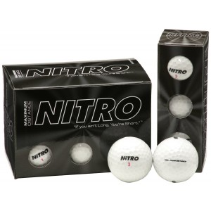 Nitro Maximum Distance Golf Ball (12-Pack), White