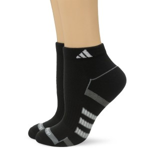 adidas Women's Climalite II Low Cut Sock (2-Pair), Black/Medium Lead/White, Size 5-10