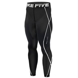 JustOneStyle New 011 Take Five Skin Tights Compression Leggings Base Layer Black Running Pants Mens S - 3xl