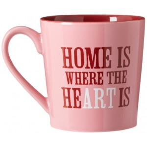 Life is good Home is Where Everyday Mug (Blush Pink)