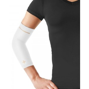 Tommie Copper Women's Recovery Vantage Elbow Sleeve, White, Small