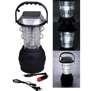 TMS 3 Modes Hand Crank Dynamo Solar 36 LED Bright Lantern Outdoor Camping Work Light