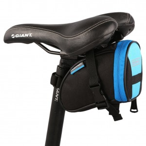 Roswheel Outdoor Cycling Bike Bicycle Saddle Bag Under Seat Packs Tail Pouch (Black-Blue-13656)