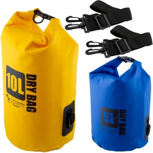 (2 Pack) The Friendly Swede Compact and Lightweight Dry Bag, Water-Resistant 500D Tarpaulin