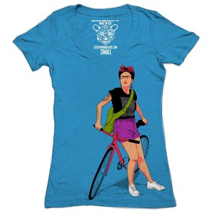Clockwork Gears Women's Frida Cycling T-Shirt, Royal, Medium