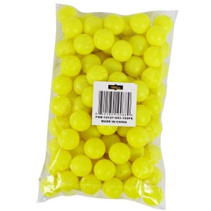 "Fairly Odd Novelties 3/4"" Mini Ping Pong/Table Tennis/Beer Pong Round Balls (100 Pack), 19mm, Yellow"