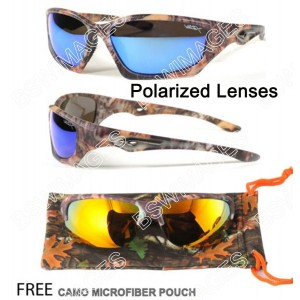 CPS Camouflage Sport Wrap Sunglasses With Camo Micro Pouch Included