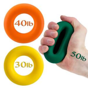 Hand Grip Strengthener by Iron Crush - A Hand and Forearm Exerciser - Set of 3 Level Resistance - 2 Year Warranty - Extension, Crushing and Pinch Grip Training Solution - Best Hand Gripper on the Market!