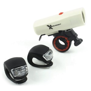 Xtreme Bright Ultra Torch LED Bike Light Set; Powerful, Durable 250 Lumen Combination Bike Headlight -Taillight Safety for The Serious Biker