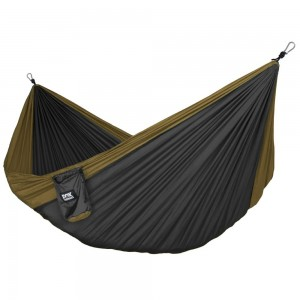 Fox Outfitters Neolite Single Camping Hammock - Lightweight Portable Nylon Parachute Hammock for Backpacking, Tra