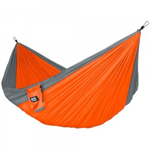 Fox Outfitters Neolite Double Camping Hammock - Lightweight Portable Nylon Parachute Hammock for Backpacking, Tra
